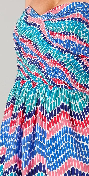 Shoshanna Mylie Strapless Print Dress