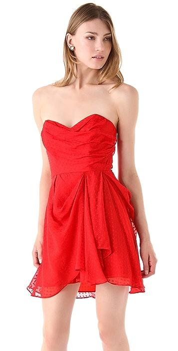 Shoshanna Whitney Strapless Dress