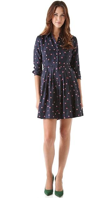 Shoshanna Zooey Printed Shirtdress