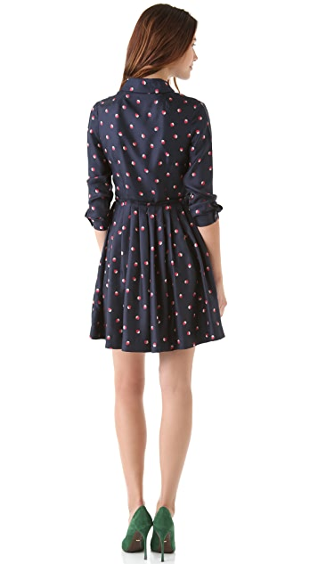 Shoshanna Zooey Printed Shirtdress