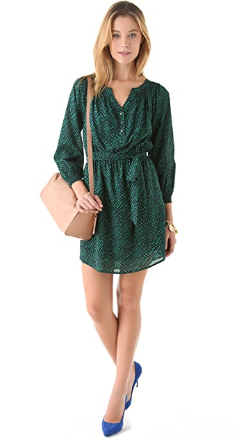 Shoshanna Taryn 3/4 Sleeve Printed Dress