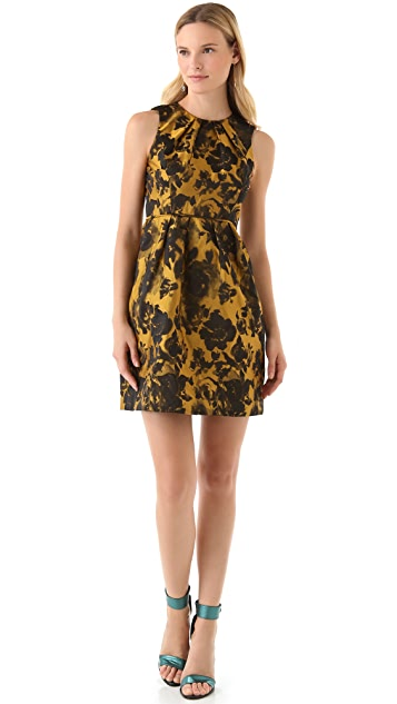 Shoshanna Emilia Rose Jacquard Dress
