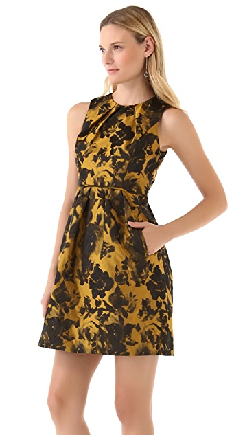 Shoshanna Emilia Rose Jacquard Dress
