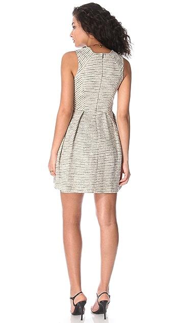 Shoshanna Bridgette Metallic Dress