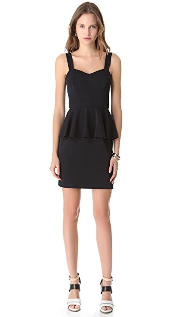 Shoshanna Deanna Peplum Dress