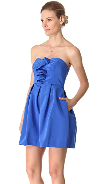 Shoshanna Odette Strapless Bengaline Dress