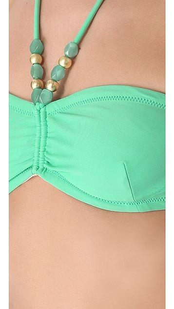 Shoshanna Charlotte Ronson for Shoshanna Mint Beaded Bikini Top