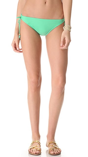 Shoshanna Charlotte Ronson for Shoshanna Mint Beaded Bikini Bottoms