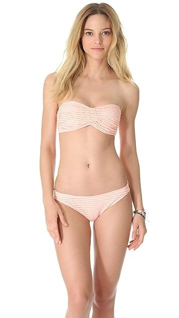 Shoshanna Charlotte Ronson for Shoshanna Adelaide Crochet Bandeau Bikini Top