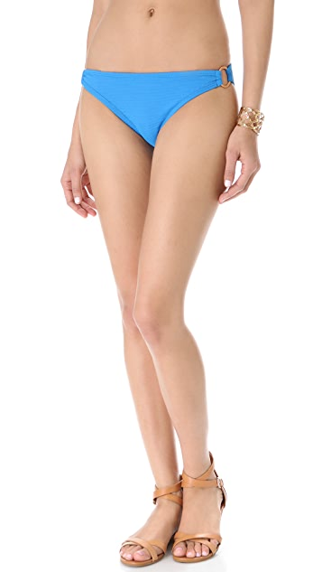 Shoshanna Turquoise Pique Bikini Bottoms