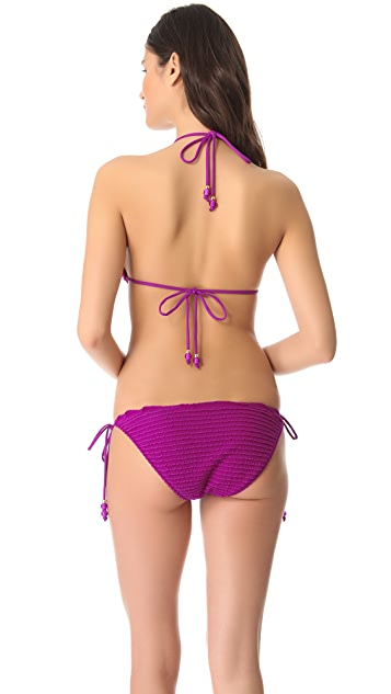 Shoshanna Ultraviolet Triangle Bikini Top