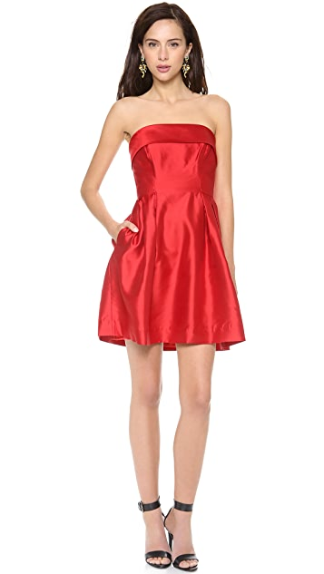 Shoshanna Shaina Strapless Dress