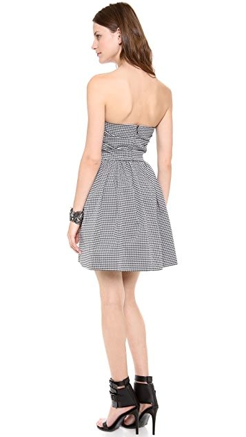 Shoshanna Libby Mini Houndstooth Dress