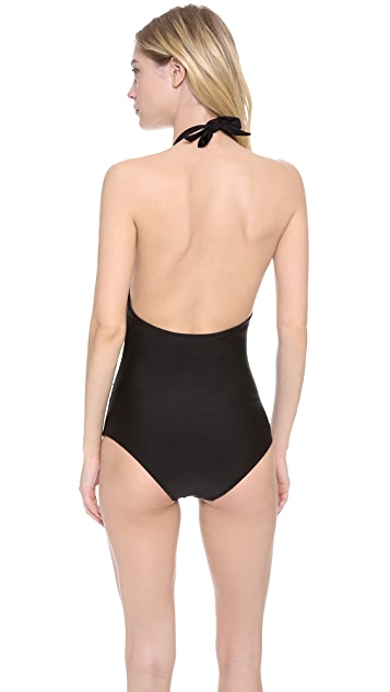 Shoshanna Black Solids One Piece Swimsuit