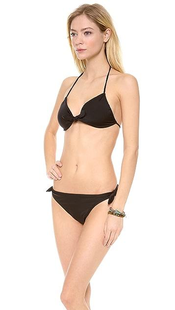 Shoshanna Black Solids Bikini Top