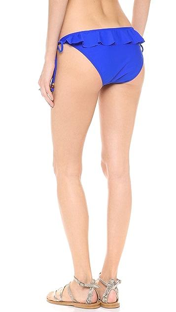 Shoshanna Cobalt Solids Bikini Bottoms