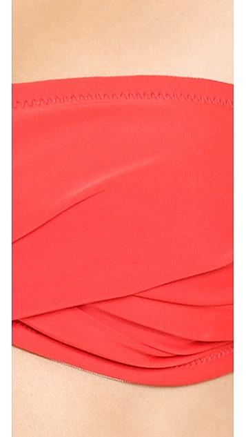 Shoshanna Cherry Red Solids Bikini Top