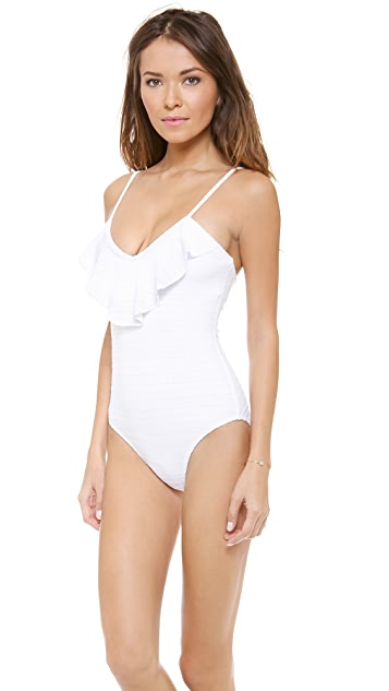 Shoshanna Emery Mills Eyelet One Piece Swimsuit