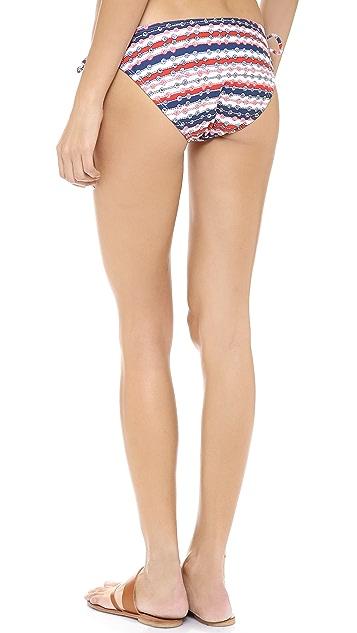 Shoshanna Lariat Stripe Bikini Bottoms
