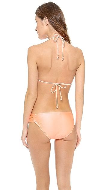 Shoshanna Coral Solids Bikini Top