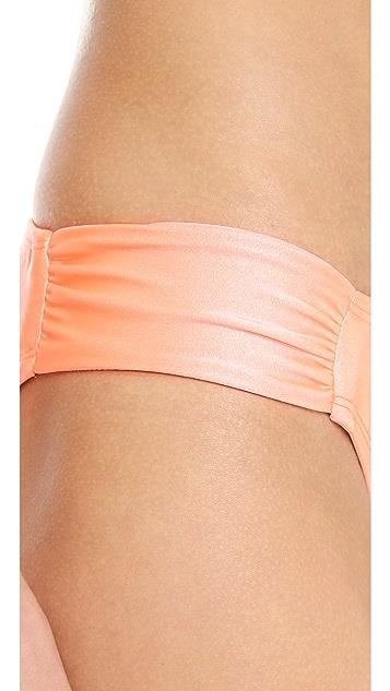 Shoshanna Coral Solids Bikini Bottoms