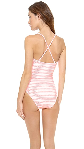Shoshanna Seven Lakes Stripe One Piece Swimsuit