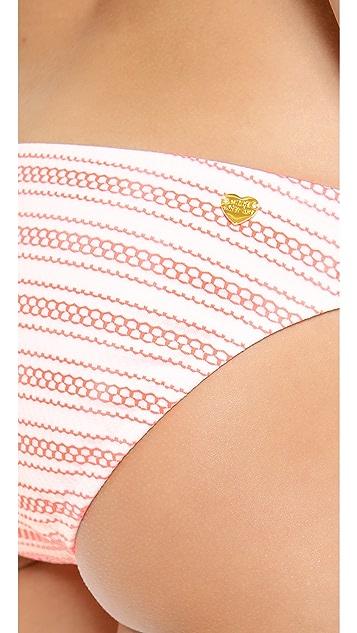 Shoshanna Seven Lakes Stripe Bikini Bottoms
