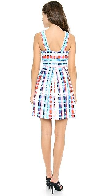 Shoshanna Jacey Squares Print Dress