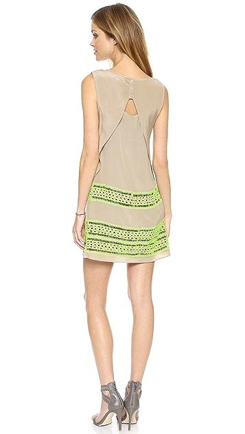 Shoshanna Embroidered Brenda Dress