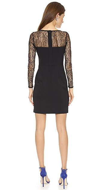 Shoshanna Lace Combo Natalia Dress