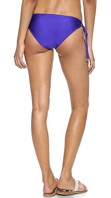 Shoshanna Blue Lace Up Bikini Bottoms
