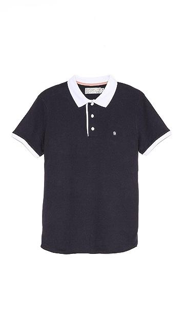 Shipley & Halmos James Midnight Navy Polo Shirt