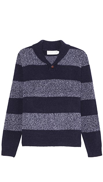 Shipley & Halmos Earnest Striped Shetland Sweater