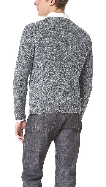 Shipley & Halmos Stephan Marled Crew Neck Sweater