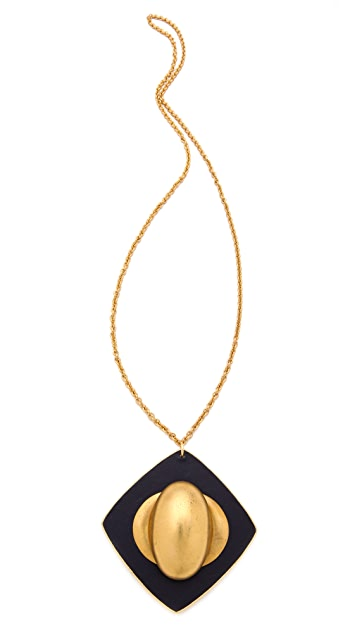 Sandy Hyun Leather Pendant Necklace