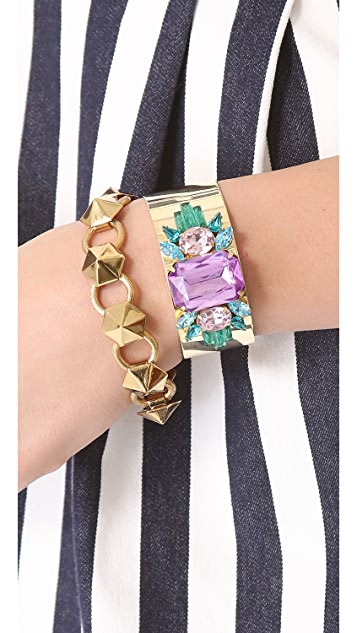 Sandy Hyun Jeweled Cuff Bracelet