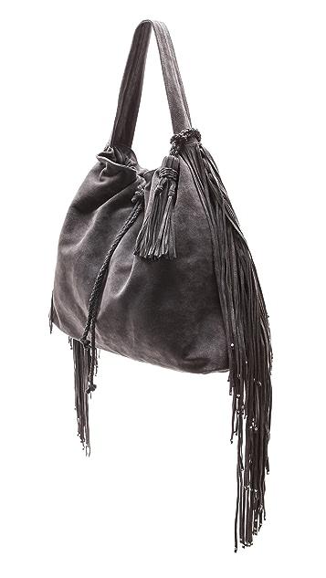 Simone Camille Crescent Suede Bag