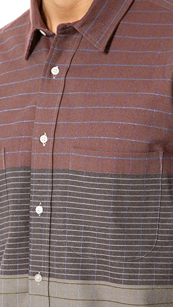 Sidian, Ersatz & Vanes Colorblock Stripe Classic Shirt
