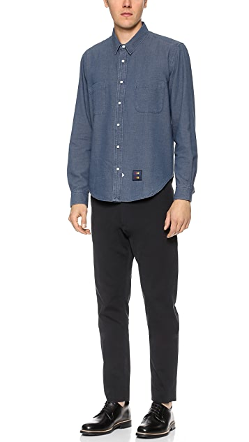 Sidian, Ersatz & Vanes Marled Chambray Shirt