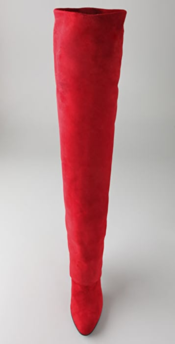 Sigerson Morrison Long Cuff Suede Over the Knee Boots