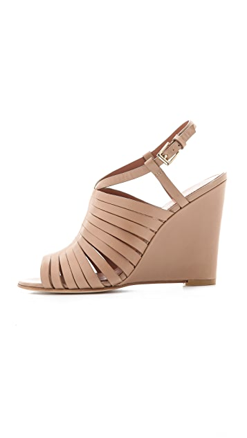 Sigerson Morrison Strappy Wedge Sandals