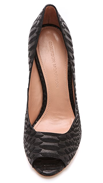 Sigerson Morrison Kitty Open Toe Pumps