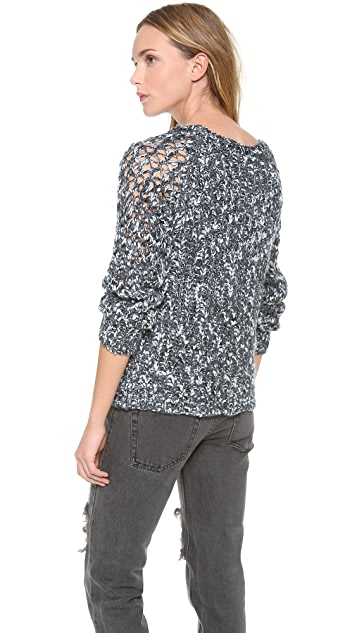 SHAE Long Sleeve Mixed Stitch Pullover