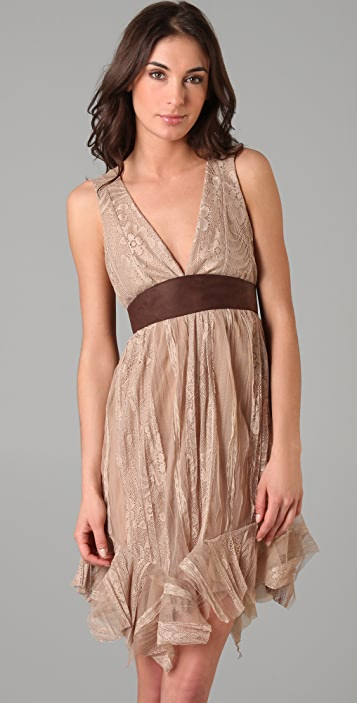 Simone Leather & Lace Dress