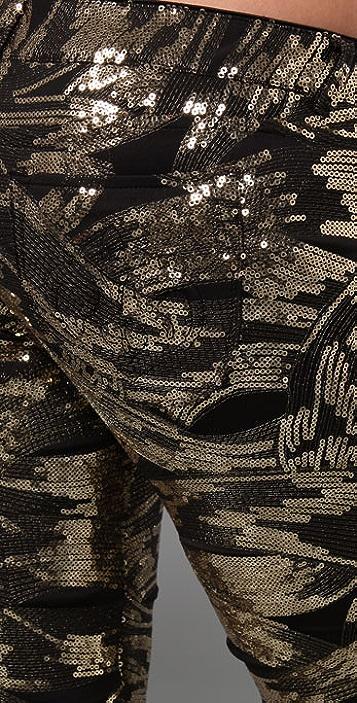Siwy Sequin Hannah Slim Crop Pants