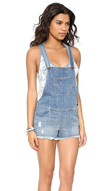 Siwy Jessie Slouchy Short Overalls