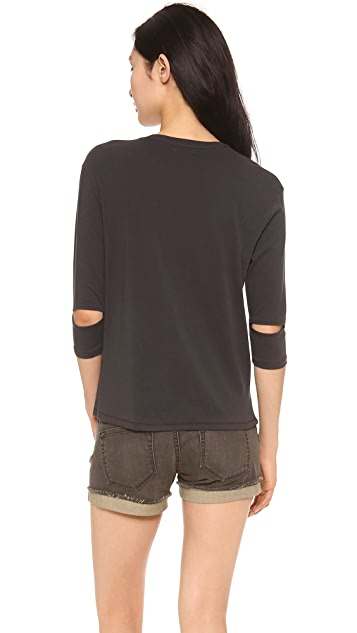 6397 Slash Sleeve Tee
