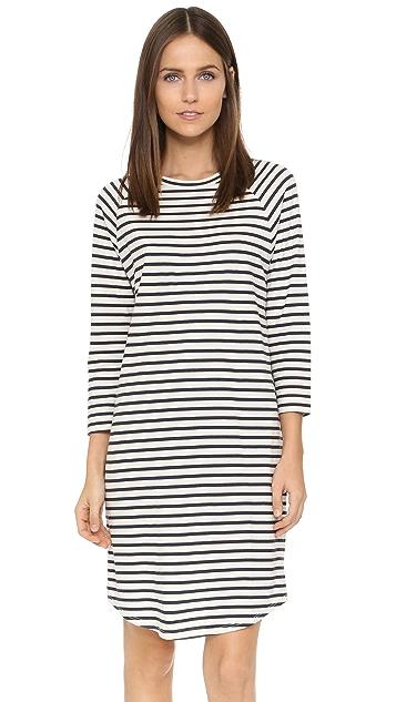 6397 Stripe Long Sleeve Dress