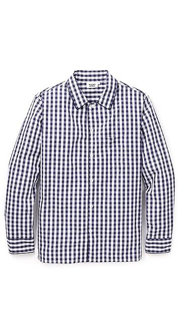 Sleepy Jones Gingham Henry Pajama Shirt