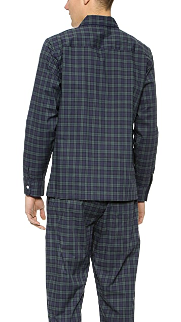 Sleepy Jones Black Watch Henry Pajama Shirt